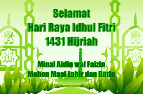 Selamat Hari Idul Fitri 1431 H